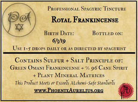 Royal Frankincense Spagyric Tincture