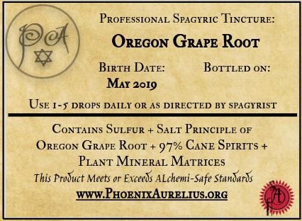 Oregon Grape Root Spagyric Tincture