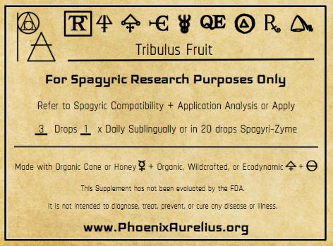 Tribulus Fruit Spagyric Tincture
