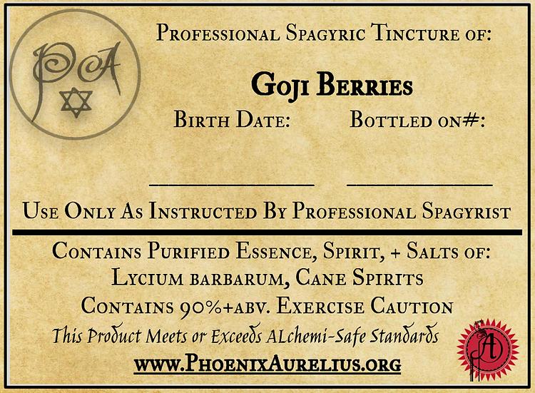 Goji Berry Spagyric Tincture