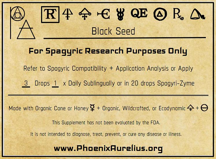 Black Seed Spagyric Tincture