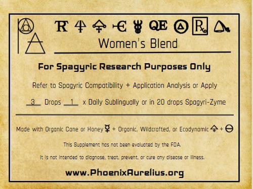 Women's Blend Spagyric Formula