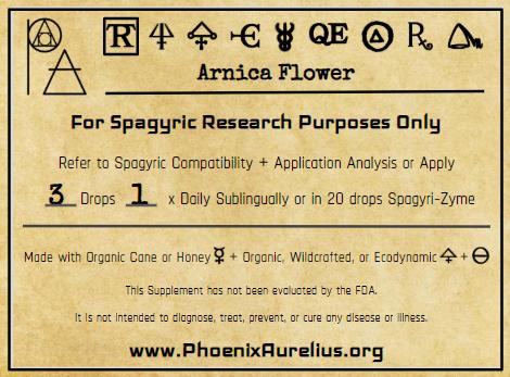 Arnica Flower Spagyric Tincture