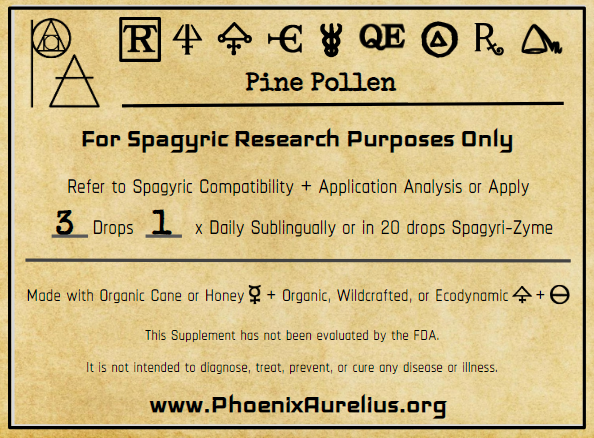 Pine Pollen Spagyric Tincture
