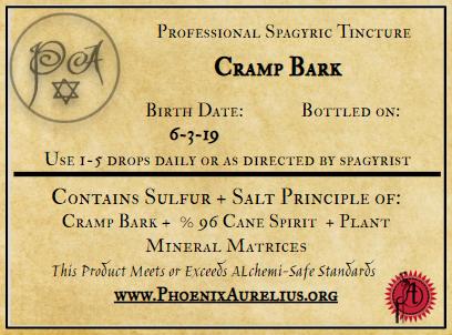 Cramp Bark Spagyric Tincture
