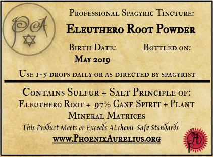 Eleuthero Root Spagyric Tincture
