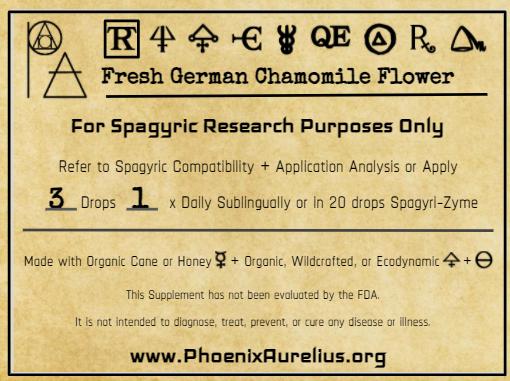 Fresh German Chamomile Flower Spagyric Tincture