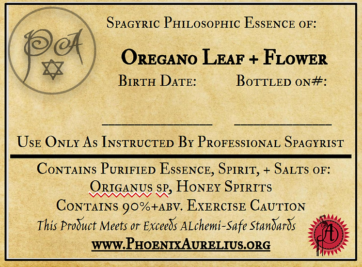 Oregano Philosophic Spagyric Essence