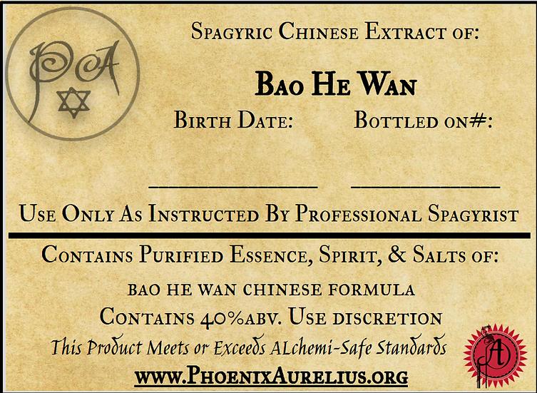 Bao He Wan Spagyric Chinese Extract
