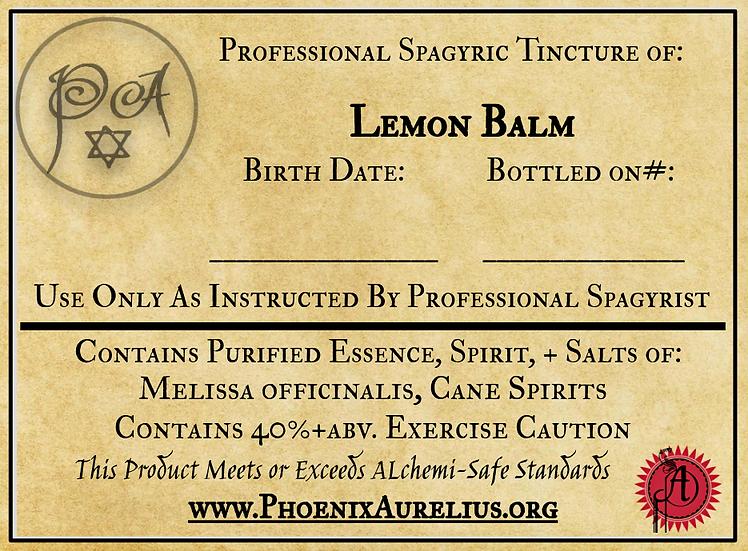 Lemon Balm Spagyric Tincture