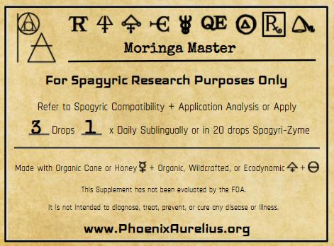 Moringa Master Spagyric Formulation