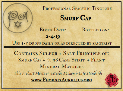 Smurf Cap Spagyric Tincture