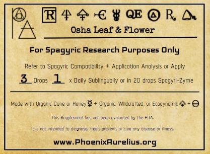 Osha Leaf & Flower Spagyric Tincture