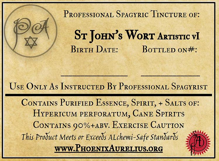 St John's Wort Artistic Spagyric Tincture