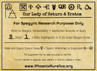 Our Lady of Saturn & Kratom Spagyric Tincture