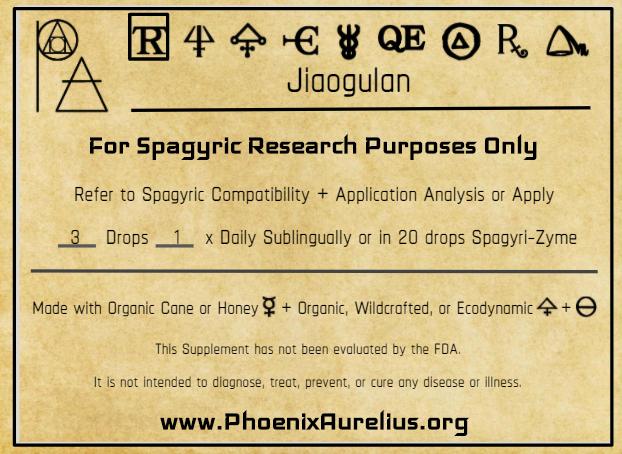 Jiaogulan Spagyric Tincture
