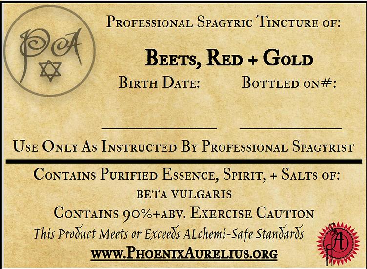 Red & Golden Beet Spagyric Tincture
