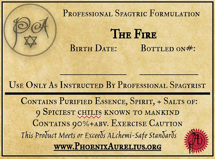 The Fire Spagyric Formulation