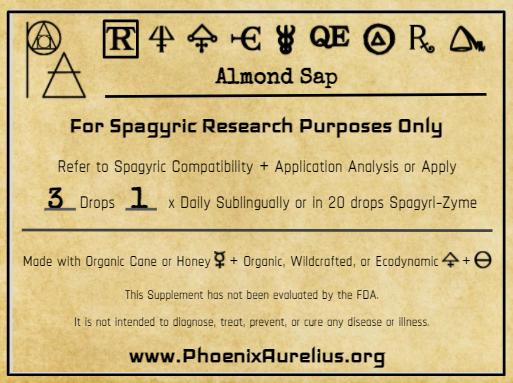 Almond Sap Spagyric Tincture