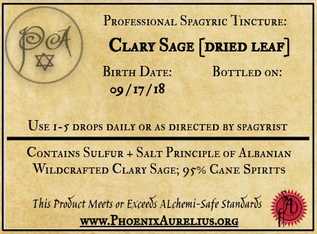 Dried Clary Sage Spagyric Tincture