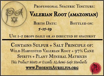 Valerian Root (Amazonian Wild-harvested) Spagyric Tincture