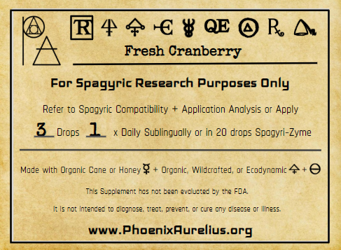 Fresh Cranberry Spagyric Tincture