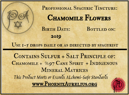 Chamomile Flower Spagyric Tincture