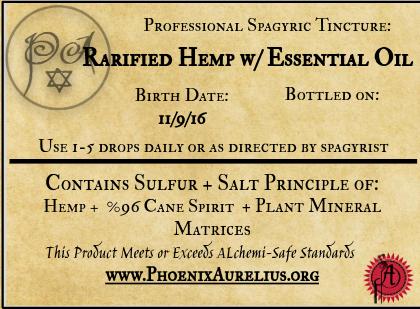 Rarified Hemp w/ Essential Oil Spagyric Tincture