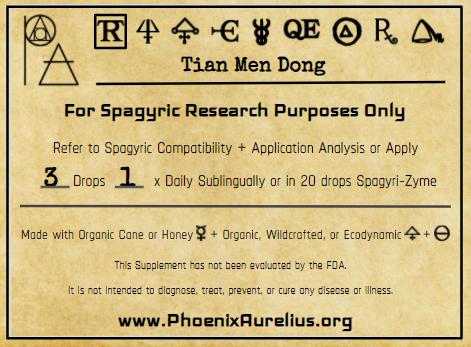 Tian Men Dong Spagyric Tincture