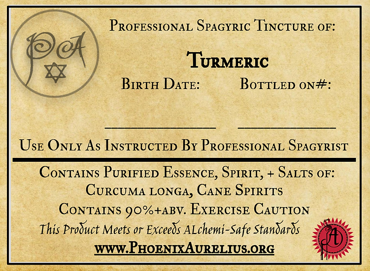 Turmeric Spagyric Tincture