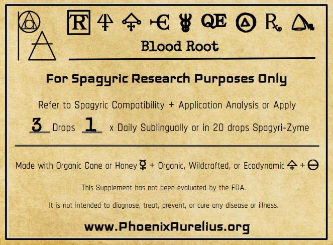 Blood Root Spagyric Tincture