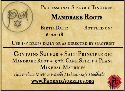 Mandrake Root Spagyric Tincture