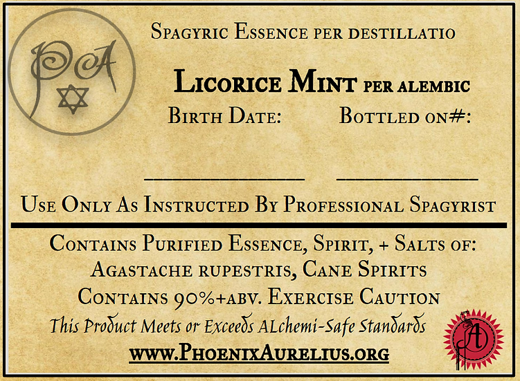 Licorice Mint Spagyric Essence