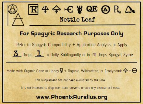 Nettle Leaf Spagyric Tincture