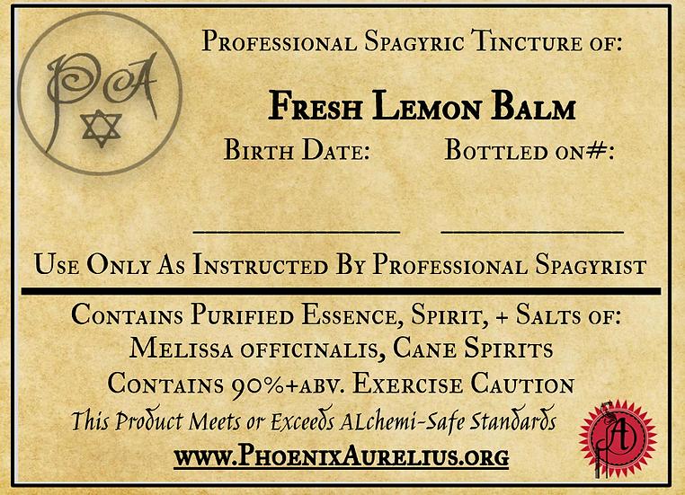 Fresh Lemon Balm Spagyric Tincture