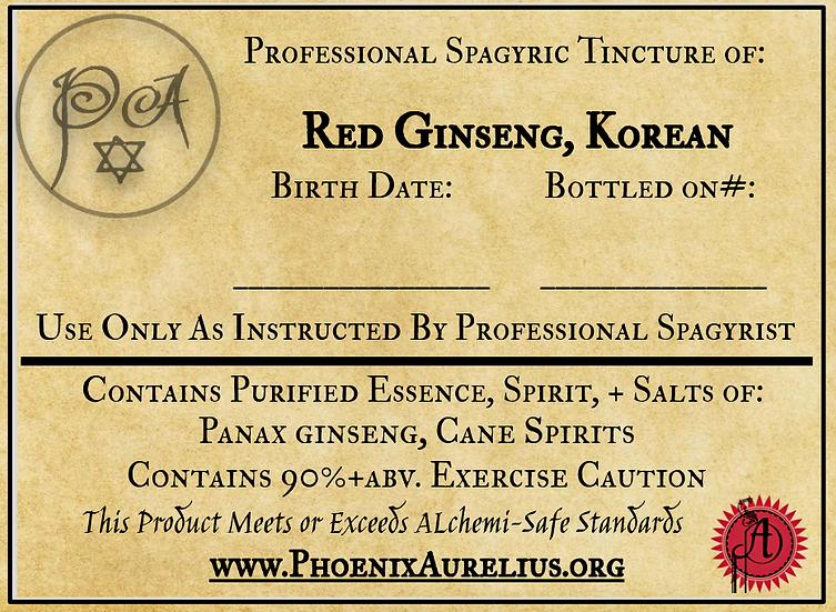 Korean Red Ginseng Spagyric Tincture