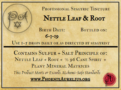 Nettle Leaf and Root Spagyric Tincture