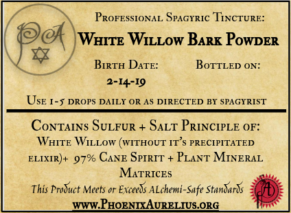 White Willow Bark Spagyric Tincture