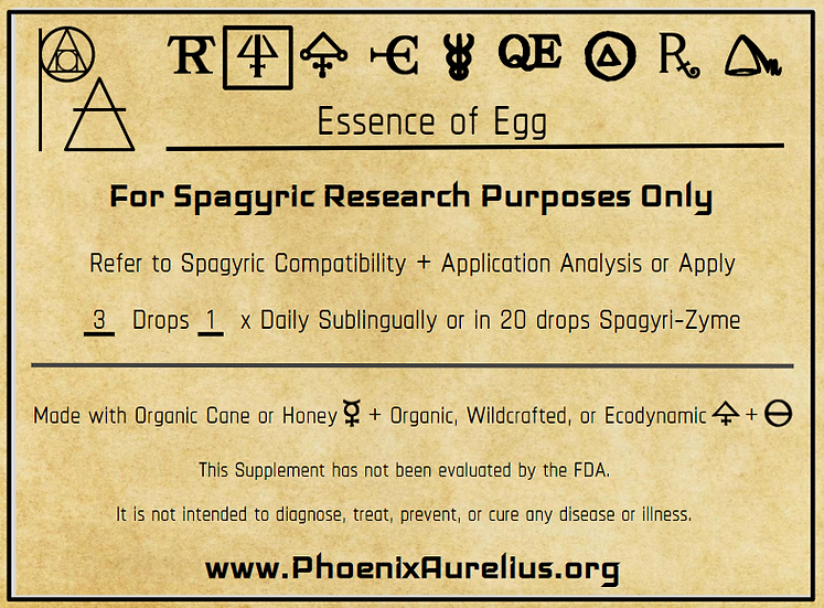 Spagyric Essence of Egg