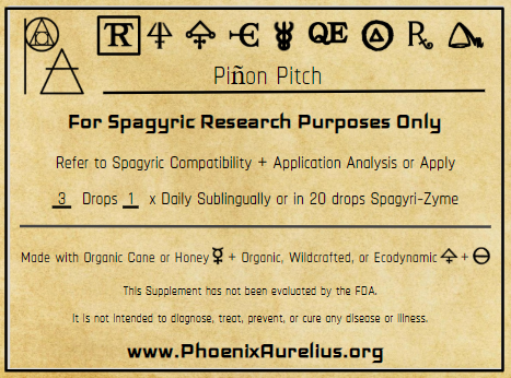 Pinon Pitch Spagyric Tincture
