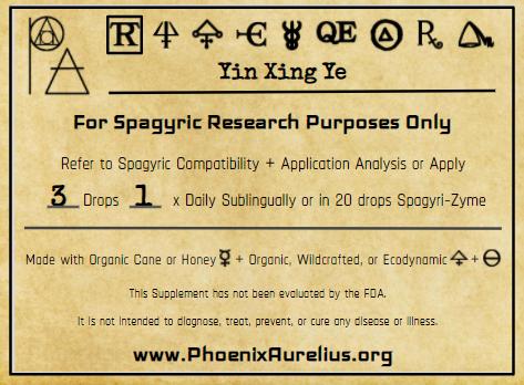 Yin Xing Ye Spagyric Tincture