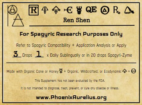 Ren Shen Spagyric Tincture