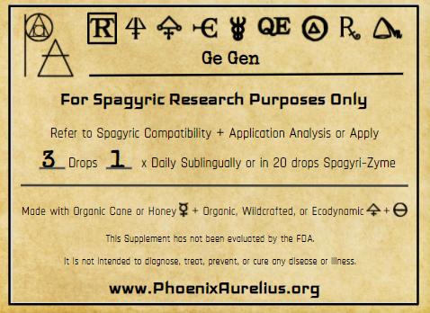 Ge Gen Spagyric Tincture