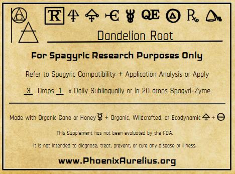 Dandelion Root Spagyric Tincture