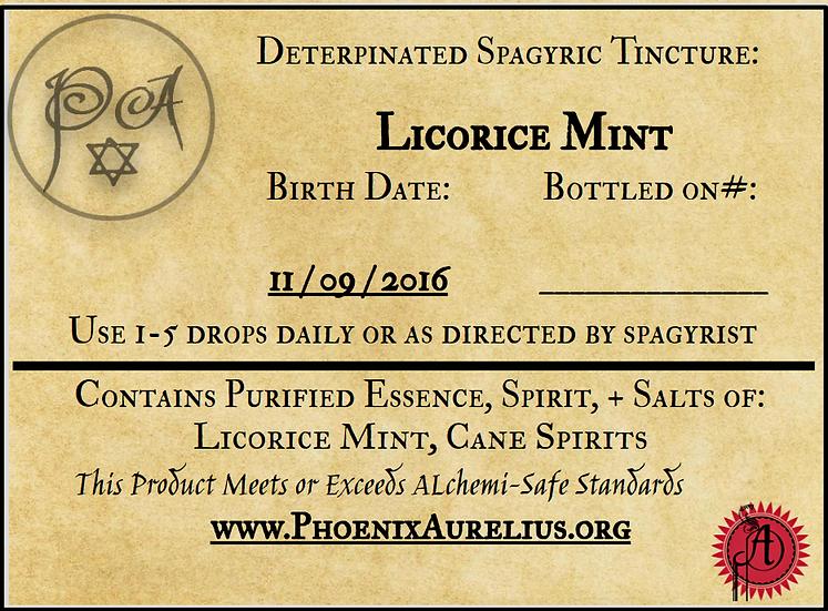 Licorice Mint (deterpinated) Spagyric Tincture
