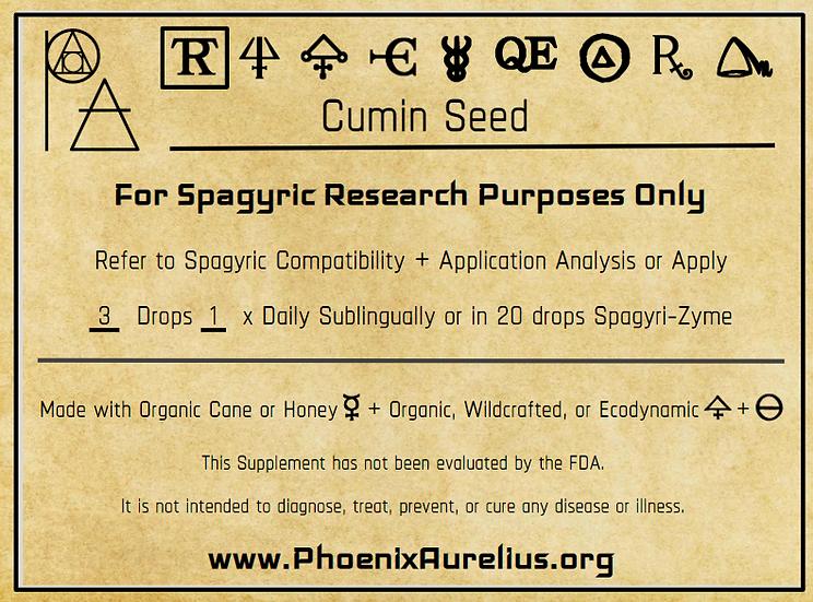 Cumin Seed Spagyric Tincture