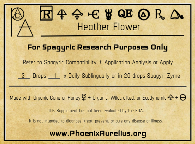 Heather Flower Spagyric Tincture
