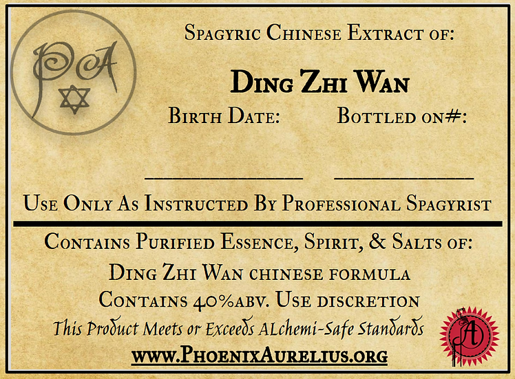 Ding Zhi Wan Spagyric Chinese Extract