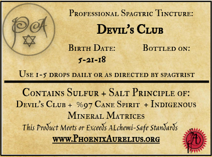 Devil's Club Spagyric Tincture