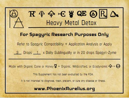 Heavy Metal Rx Spagyric Formula